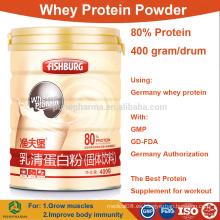 Venta al por mayor polvo de proteína de suero concentrado 80% aislar los precios al por mayor