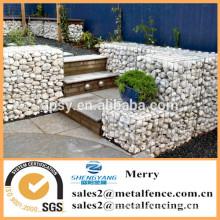 1mX1mX1m Galfan galvanized Zn welded stone gabion basket flexible wild roof gabion bench and gabion steps