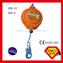 SRL-10 Wire Cable With Steel Swivel Hook, 10M Self Retracting Lifeline Cable