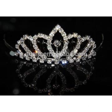 wholesale crown tiara comb crystal rhinestone tira