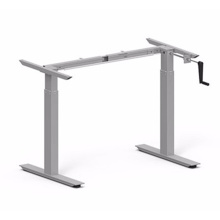 Two Legs Table Hand Crank Height Adjustable Desk