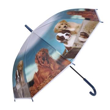Lindo niño de impresión creativa animal / niños / niño paraguas (SK-09)