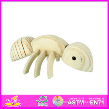 2014 New Animal Kids Paint Wood Toy, Popular DIY Children Paint Wood Toy, Hot Sale Ant Style Baby Paint Wood Toy W03A038