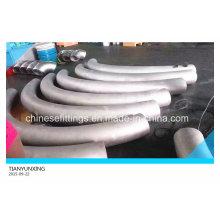 ANSI B16.49 Lr = 10d Curva de acero inoxidable sin costuras