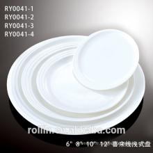 Ensembles de plaques en porcelaine DINNER, porcelaine fine à forme ronde