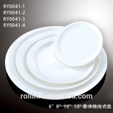 Porcelain DINNER plates sets ,round shape fine porcelain
