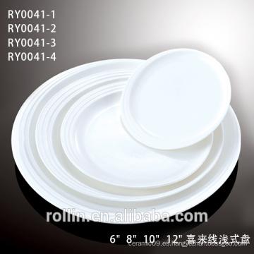 Plato de cena de la porcelana de la venta directa del Manufactory con Lastest diseñado