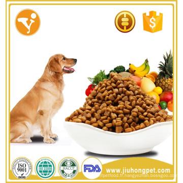 Vente en gros de bouteilles de boeuf naturel 20kg de nourriture en chien sec en vrac