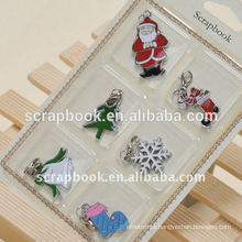 christmas alloy painted floating charms metal charms