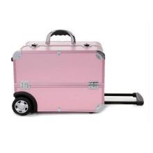 Estuche de almacenamiento rosa Estuche de maquillaje de alta calidad Trolley