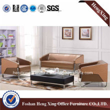 Living Room Wood Real Leather Sofa (HX-S3007)