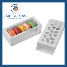 White Matt Laminated Paper Card Small Cake Box (CMG-cake box-019)