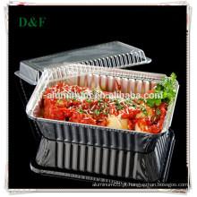 Papel de alumínio descartável recipientes para alimentos a vácuo
