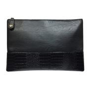 Womens Chic Faux Leather Clutch Shoulder Bag