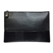 Womens chic kunstleer clutch schoudertas