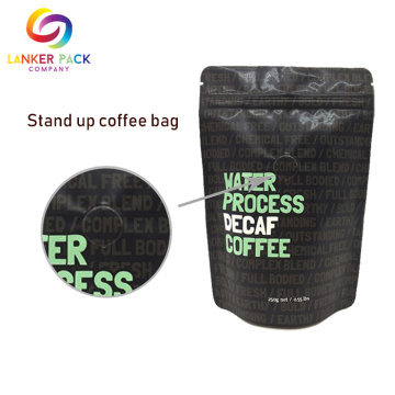 Brown+Kraft+Paper+Coffee+Bag+With+Degassing+Valve