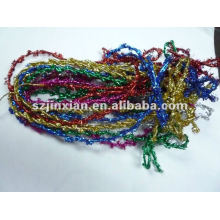 glittering 1mm thin metallic and rubber bungee elastic box bow