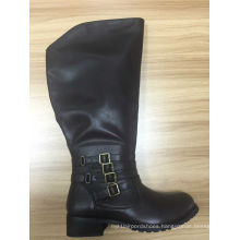 2016 New Style Fashion Flat Ladies Knee High Boots (HS09)