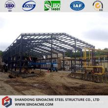 Construcción de acero para un almacén de estructura moderna bien diseñado
