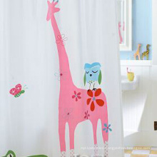 Cartoon Pattern Polyester Shower Curtain