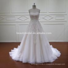 HD024 vente en gros nouvelle main de conception de mariage robe de mariée made in usa
