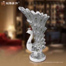jarrón del pavo real de la resina del alto grado para la decoración casera al precio al por mayor