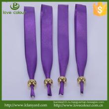Пользовательские Eco-friendly Фиолетовый атласный браслет на свадьбу