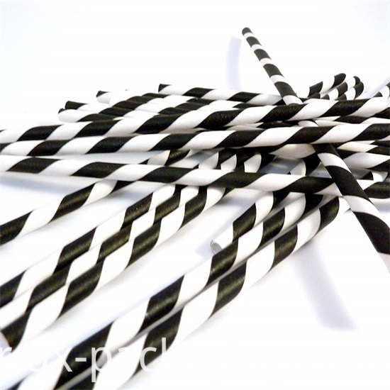 Black And White Straws