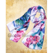 Fashion digital printed silk scarf wholesale china