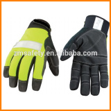 Fluorescent Yellow Safety Working Gloves