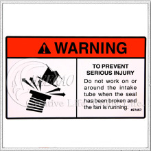 Warning Label Sticker (KG-LA004)