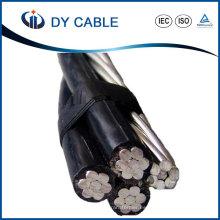 Cable aislado aéreo del aislamiento XLPE del conductor de ACSR de la baja tensión