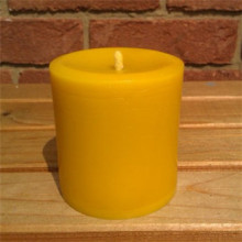100% pure Beeswax votive candle with honey aroma