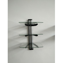 DVD 3 Layer Glass Support/Silver Tube with Clear Glass