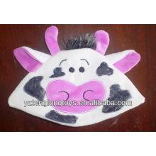 Высокое качество мило и прекрасный корова лицо плюшевые baby hat