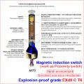 Sellado, larga vida, interruptores de flujo magnéticos a prueba de explosiones, interruptores antivandalismo (interruptor de botón a prueba de agua)