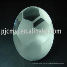 Fabricación de fábrica de varios trofeo de cristal de fútbol premio de fútbol