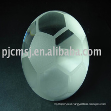 Factory manufacture various crystal glass football award trophy