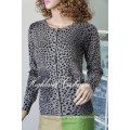 Ladies′ Cashmere Cardigan with Printting Cprc1104L