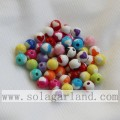 Beautiful Ball Solid Opaque Jewelry Acrylic Beads With Heart Shape On It