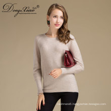 Factory Custom Office Lady Style Accpet Oem Pure Knit Merino Wool Sweater For Family Use