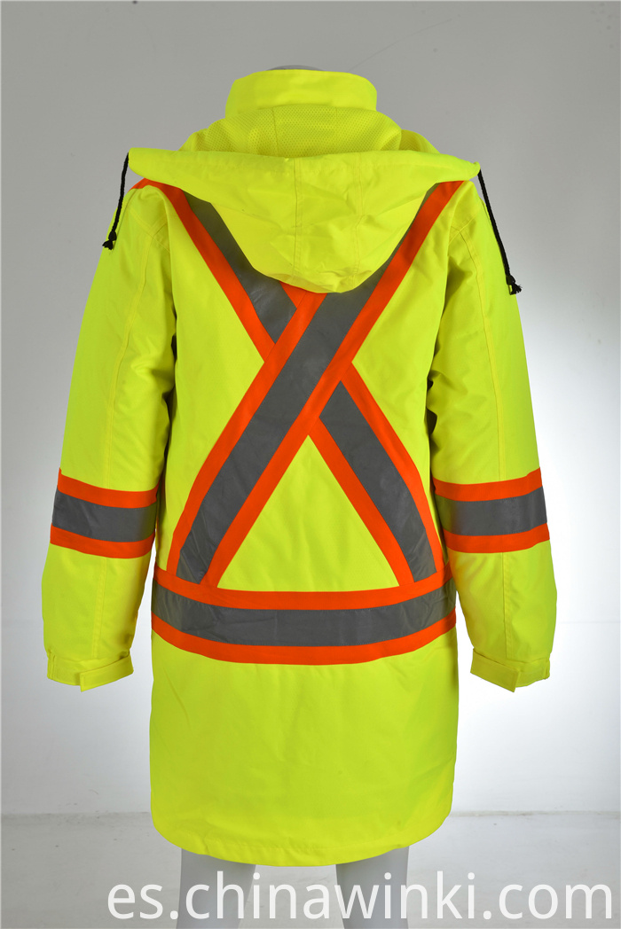Warm safety jacket