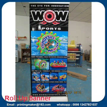 Deluxe Wide Base Layar tunggal Roll Up Banner Stand