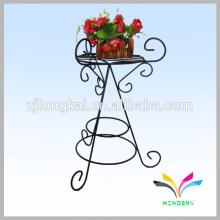 Suporte único suporte de flor metálico ao ar livre