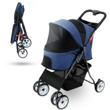 2020 Pet Stroller 4 Wheels Travel Folding Carrier