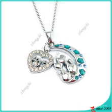 Fashion Moon and Heart Charm Pendant Fashion Necklace (PN)