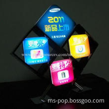 LED light sign with dynamic display for counter top