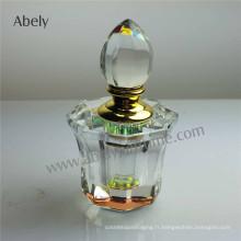 Bouteille d'huile en cristal OEM de 6 ml