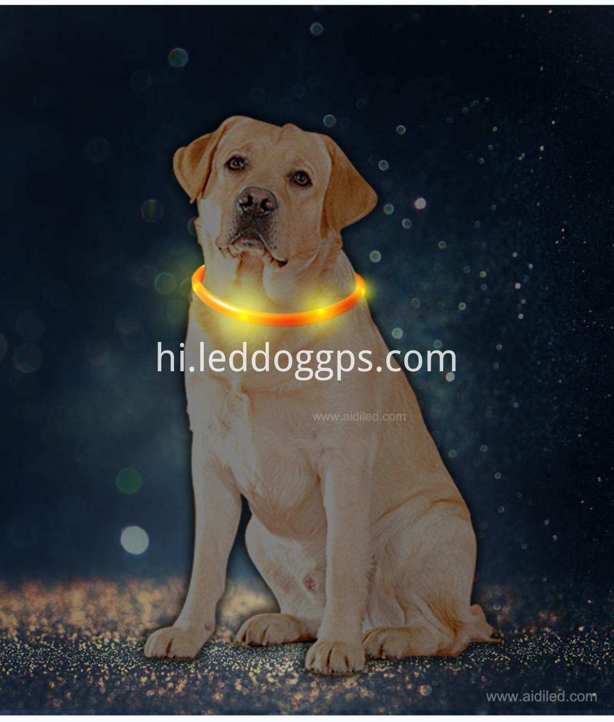 Silicone Led Tube Dog Collar