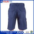 Cotton Drill Navy Blue Cargo Work Shorts (YGK114)